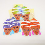 "2.5"" Fashionable Lady  Wood  Earrings .54 per pair"