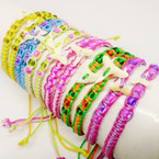 Asst Color Macrame Bracelets w/ Real Shark Tooth .56 each