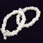All White Puka Chipped Shell Bracelets .56 each