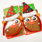Christmas Plush Santa Hat Headbands Mixed Styles .62 each