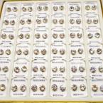 36 Pair 8MM Clear Crystal  Stud Earrings in display Gold Prong .20 per pair