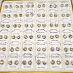 36 Pair 8MM Clear Crystal  Stud Earrings in display Gold Prong .20 per pair