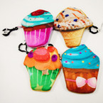 "5"" Mixed Style Ice Cream/Cup Cake Zipper Coin Purse .54 each"