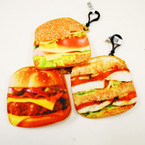 "4.25"" Mixed Style Hamburger Theme Zipper Coin Purse .54 each"