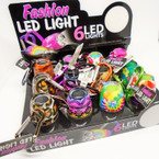 Fashion LED Light Keychain 12 per display bx $ 1.25 each