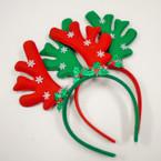 Red & Green Reindeer Snowflake Christmas Headbands  .58 each