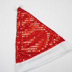 """15"""" Red Sequin Santa Hats 12 per pack ONLY .56 each"""