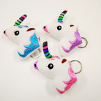 "3.5"" Plush Unicorn Keychains 12 per pk .56 each"