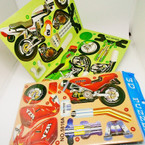 Boy's 3D Scale Motorcycle Model Kit 12 per pk .54 each