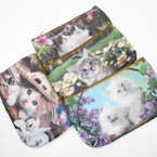 "Too CUTE 4"" X 7"" DBL Sided Cat Theme Zipper Bags .58 each"