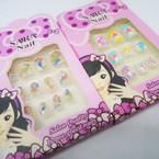 MERMAID Theme 12 Pk Pre Glued Fashion Nails .54 each set