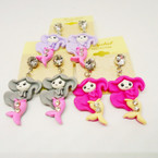 So Cute Kid's Mermaid Theme Earrings w/ Stone .54 each