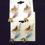 """1.5"""" Crystal Stone Mermaid Theme Earrings .54 each"""