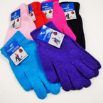 6 Color One Size Knit Winter Magic Gloves   .54 ea pair