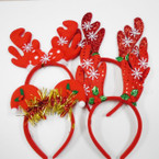 4 Style Christmas Novelty Headbands 12 per pk .58 each