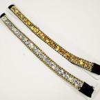 Popular Gold & Silver Stone Look Fashion Headbands w/ Elastic .54 each