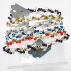 Twisted Style Color & Pearl Bead  Fashion Headbands .54 each
