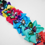 "5.5"" Mixed Color  Gator Clip Bows w/ Sequin Cat Ears  .54 each"