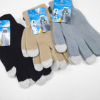 Touch Screen Knit Magic Glove Asst Colors .62 ea pair