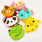 "4.5"" Mixed Animal Zipper Bags w/ Long Strap .75 each"