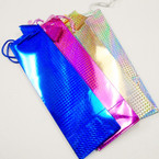 "4"" X 14"" Hologram Bottle Gift Bags 12 per pk .42 each"