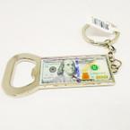 """3"""" $ 100 Bill Keychain w/ Bottle Opener 12 per pk .54 each"""