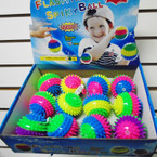 "3"" Flashing Multi Color Spikey Balls w/ YoYo 12 per bx .56 each"