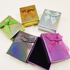 "2.75"" X 3.5"" Metallic Holiday Gift Boxes Asst Colors .58 each"