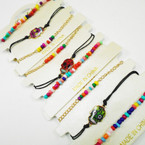3 Pack Bracelet Set w/ Colorful Sugar Skull  .54 per set
