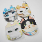 "4.5"" X 6"" Cat Theme w/ Ears Zipper Coin Purses .56 each"