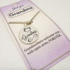 Just for Grandma Pendant Necklace 24 per pack .85 each