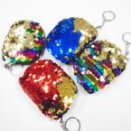 """3.5"""" Sequin Mermaid Zipper Coin Purse .54 each"""