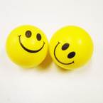 "3""Yellow  Happy Face Theme Relax Stress Balls 12 per pk .50 each"