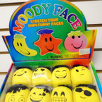 "2"" All Yellow Moody Face Novelty 12 per bx .75 each"