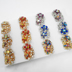 Crystal & Rhinestone Cocktail Rings 12 per tray .58 each