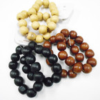 2 Pack Natural Wood Color Stretch Bracelets .54 per set