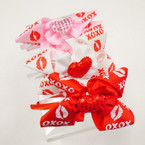 "Valentine Sequin Heart Headbands w/ 4"" Bow 3 colors .54 each"