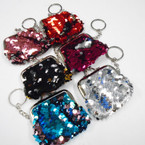 """2.5"""" Changing Color Mermaid Snap Coin Purse w/ Key Chain .56 each"""