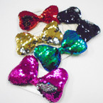 """4.5"""" Wide Sequin Mermaid Bow w/ Ponytailer    .54 each"""