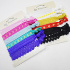 6 Pack Elastic Bracelet/Ponytailer Mixed Group as shown  .54 per set