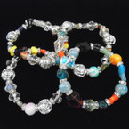 Multi Style Glass Beaded Fashion Bracelets .54 each