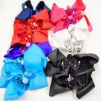 "5"" Gator CLip Bows w/  Sequin Butterfly & Pom Pom  .54 each"