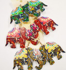 "2.5"" Wood Elephant Fashion Print  Earrings Asst Colors  .50 each"
