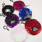 "4"" Round Sequin Mermaid Change Color Coin Purses .56 ea"