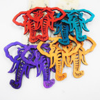 "3"" Asst Color Cut Out Elephant Earrings .50 each"