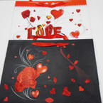 "Hi Quality Love/Heart Theme Glitter Gift Bags 11.5"" X 16"" Only .58 ea"