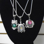 "Combo Pack 18"" Silver Chain Necklaces w/ 3 Styles Pendants .54 each"