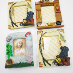 "CLOSEOUT 3.5"" X 4.5"" Poly Resin Picture Frames As shown 10 pc pk .30 each"