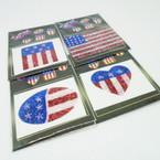 CLOSEOUT USA Theme Glitter Tattoos 24 per pk .06 each