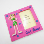 """4.5"""" Girl Power Poly Resin Frames  4 per bx .45 each"""